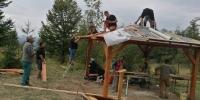 Vybudovanie kríža v sedle Korcháň