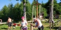 Výstavba kríža v sedle Korcháň